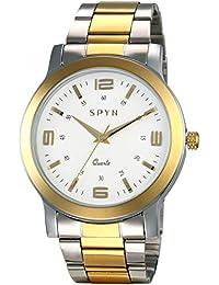 Spyn Exclusive Glow Series Golden Casual Wrist Watch For Men