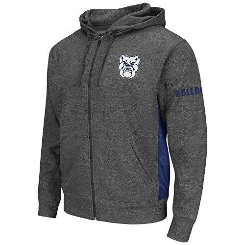 Mens NCAA Butler Bulldogs Full-zip Hoodie (Heather Charcoal) - L (Butler Bulldogs Sweatshirt compare prices)
