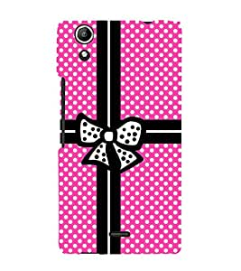 Gift Wrapper Pink Dots Cute Fashion 3D Hard Polycarbonate Designer Back Case Cover for Micromax Canvas Selfie 2 Q340