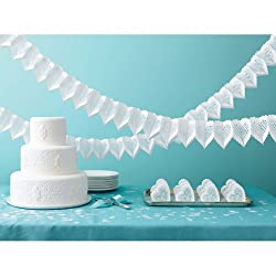 Martha Stewart Crafts Garland, White Die-Cut Heart