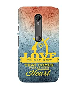 EPICCASE art of heart Mobile Back Case Cover For Moto X Style (Designer Case)