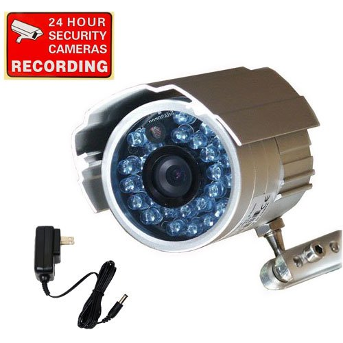 VideoSecu Bullet Outdoor CCD Security Camera Day Night 26 IR Infrared LEDs With Free Power Supply 1Z8