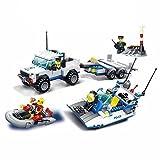 WANGE con la marca / policía barco persecución camión mezcladas vehículos by Ingenious Toys #52012