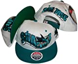 San Jose Sharks Two Tone White/Teal Snapback Adjustable Plastic Snap Back Cap / Hat Reviews