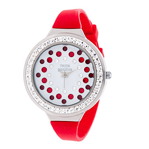 ladies-think-positiver-modell-se-w116a-star-dust-tunnel-medium-stahlband-silikon-farbe-rot