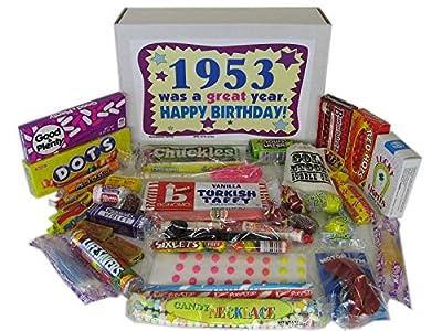 1953 63rd Birthday Gift Basket Box Jr. Retro Nostalgic Candy 50s Decade