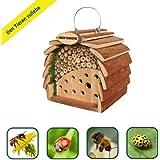 Gardigo Insektenhotel für Bienen & Marienkäfer naturholzfarben