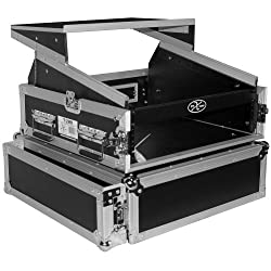 ProX Cases T-2MRLT 2 Space 10U Slant DJ Mixer Combo Rack w/ Sliding Laptop Shelf by Pro X Cases