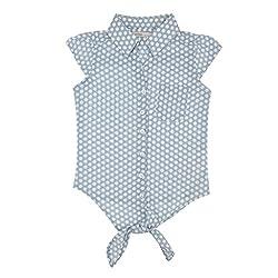EIMOIE Girls Cotton Sleeveless Shirt (Blue)