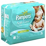 Pampers Soft Care Wipes, Baby Fresh, 216 wipes