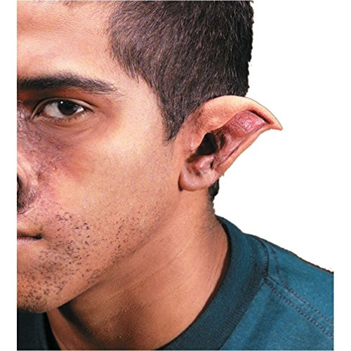 [Popcandy Reel FX Evil Elf Demon Pointed Ears Ear Tips Kit SCARY] (Prosthetic Fx Makeup Halloween Masks)