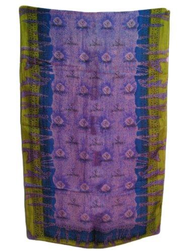 Pure Silk Tie-Dye Om Namah Shivay Scarf Shawl Muffler 20