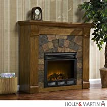 "Hot Sale Underwood Antique Oak Electric Fireplace (Antique Oak) (40""H x 45.5""W x 14.5""D)"