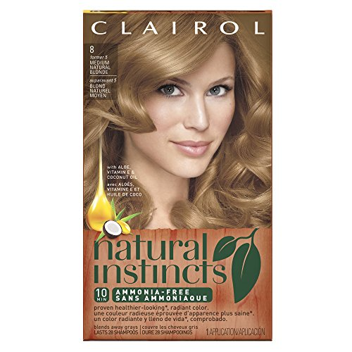 Clairol Natural Instincts, 8 / 5 Champagne on Ice Medium Natural Blonde, Semi-Permanent Hair Color, 1 Kit (Semi Hair Dye Blonde compare prices)