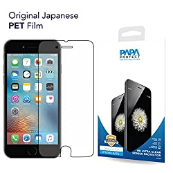 iPhone 6S / 6 Papa Protect HD Clear Screen Protector | Pack of 3 Film Protectors | 3D Touch Compatible | Original Japanese PET Film | True Touch | Perfect Fit | Scratch Protection | Unmatched Clarity | Bubble Free Application | Lifetime Warranty