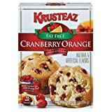 Krusteaz, Cranberry Orange Supreme Muffin Mix, Fat Free, 17.5oz Box (Pack of 4)