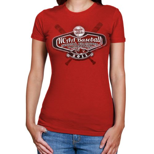 My U South Carolina Gamecocks 2011 NCAA Men's College World Series Champions Ladies High Octane T-Shirt - Garnet (X-Large)