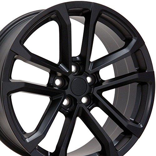 20-inch Fits Chevrolet - Camaro ZL1 Aftermarket Wheels - Matte Black 20x9.5 / 20x8.5 - Staggered Set of 4 (Camaro Zl1 Brakes compare prices)