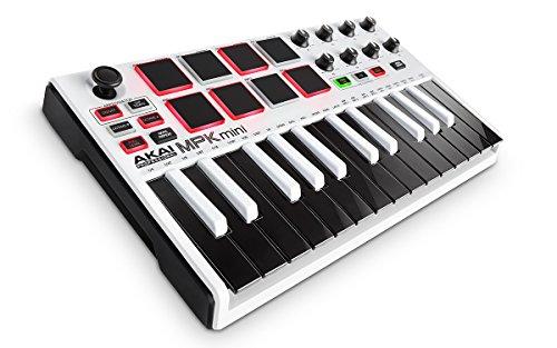 Akai-Professional-MPK-Mini-MKII-Red-Special-Edition-de-compacto-USB-MIDI-Keyboard-Pad-Controlador-con-25-teclas-Pads-Pads-MPC-Essentials-sonivox-Wobble-y-Hybrid-3