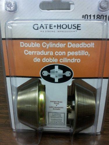 Gate - House Double Cylinder Deadbolt- Antique Brass Finish