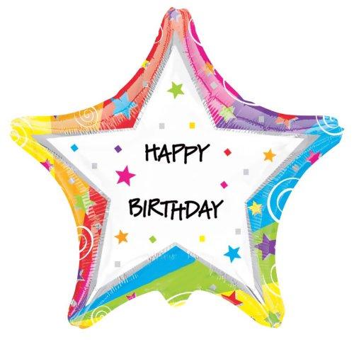 "Mayflower Distributing - Star Birthday Customized Foil Balloon, 18"" - 1"