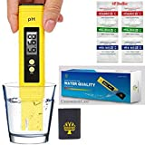 Digital Ph Meter Tester 0.01 PH Accuracy Water Quality Tester with ATC 0-14 Measurement Range with Plastic Box for House Water,Hydroponics,Aquariums,P