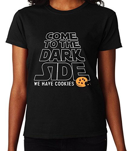 Come To The Dark Side We Have Cookies Star Wars Awesome Women DonnaBlack T-shirt