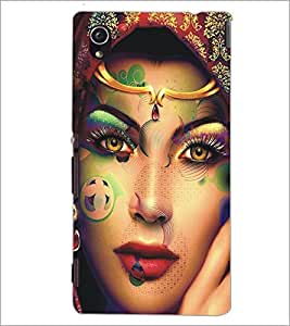 PrintDhaba Beautiful Face D-5453 Back Case Cover for SONY XPERIA M4 AQUA (Multi-Coloured)