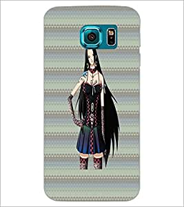 PrintDhaba Sweet Girl D-3083 Back Case Cover for SAMSUNG GALAXY S6 EDGE (Multi-Coloured)
