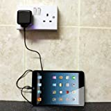 Gadget Giant UK Mains Wall Plug Charger For Apple iPhone 5, iPod Touch 5, iPod Nano 7, iPad 4G & iPad Mini (New Generations 2012) - 8 Pin Connector - UK CE / RoHS Approved (Black)