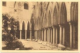 1910 Vintage Postcard Monumental Cemetery of 1200 Amalfi Italy