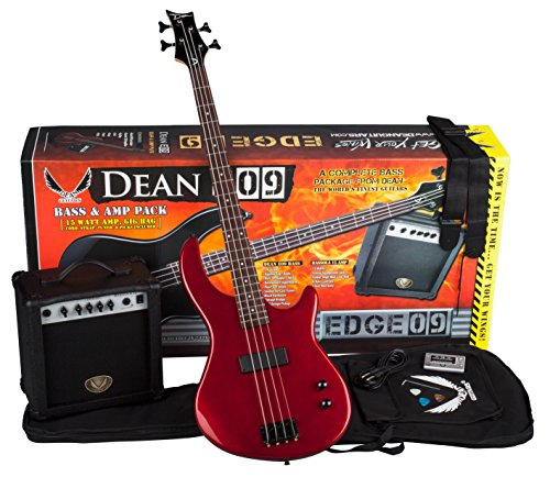 Dean Starter Bass Pack with Edge 09 Bass, Metallic Red (Dean Bass Edge 09 compare prices)