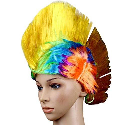 [Wensltd Halloween Masquerade Punk Mohawk Mohican Christmas Cockscomb Head Wear (H)] (Mohawk Halloween Costumes)