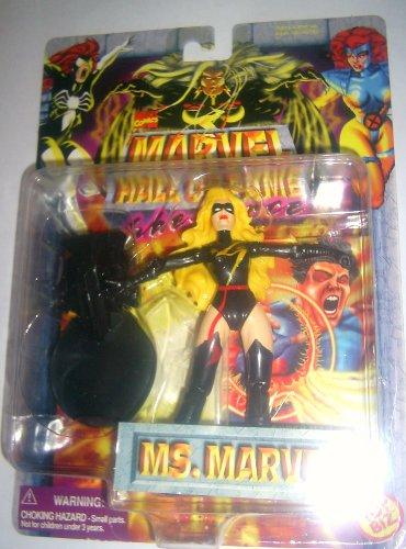 Toy Biz Marvel Hall of Fame Ms. Marvel Black Warbird Suit NEW