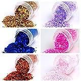 Evermarket(Tm) 1 Pcs Nail Art Glitter Dust Powder Decoration No.4(Assorted Colors)