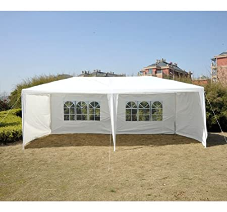 Outsunny 10' x 20' Gazebo Canopy Party Tent w/ 4 Removable Side Walls - White at Sears.com