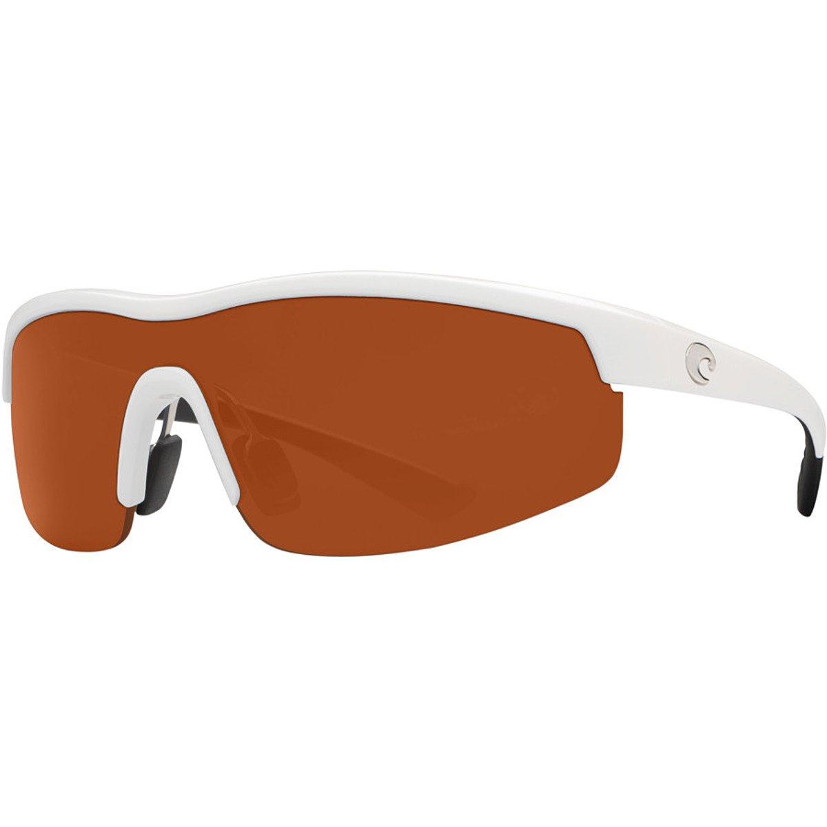 Costa Straits Polarized Sunglasses - Costa 580 Polycarbonate Lens Matte Black/Blue Mirror, One Size - Men's