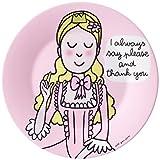 """Príncipe y princesa PC943CUK Dessertteller """"Siempre me dicen por favor y gracias"""""""