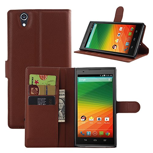 ZTE ZMAX Z970 Case, Cafeleo PU Leather Wallet Case with Card Slots Cash Compartment for ZTE ZMAX Z970 (TMOBILE / METRO) EXECUTIVE WALLET (brown)