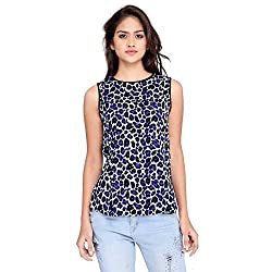 Ossi Regular Fit Blue Chambray Sleeveless top (HS3068-L)