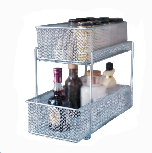 Design Ideas Cabinet Baskets Mesh Silver front-153295