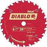 Freud D0624A Diablo 6-1/2-inch 24T ATB Perma-Shield Framing Saw Blades, 2-Pack (Tamaño: 2-Pack)