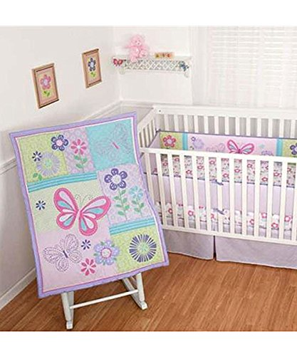 Sumersault Butterfly Boutique Crib Bedding