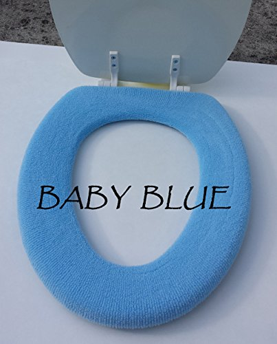 Bathroom Toilet Seat Warmer Cover - Baby Blue - Washable