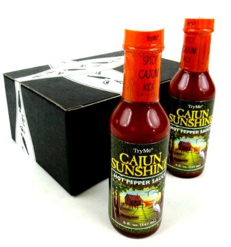 TryMe Cajun Sunshine Hot Pepper Sauce, 5 oz Bottles