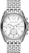 Michael Kors Pressley Chronograph White Dial Stainless Steel
