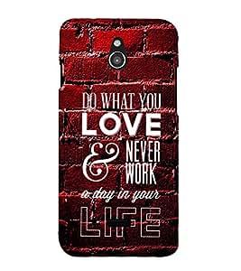 LOVE QUOTE Designer Back Case Cover for Infocus M2