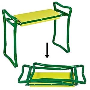 Yaheetech Foldaway Folding Kneeling Kneeler Bench Garden Gardening Seat Cushion