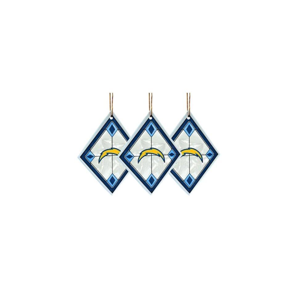 San Diego Chargers   NFL Art Glass Decorative Ornament Set