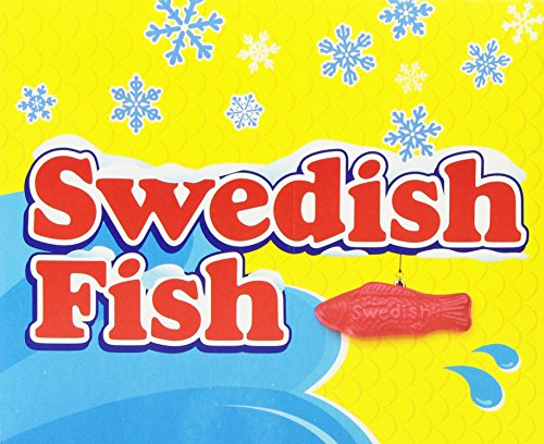 Swedish fish seasonal candy canes 6 ounce pack of 12 for Swedish fish candy canes